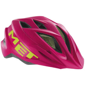 MET Crackerjack Helm Kinder pink/green texture